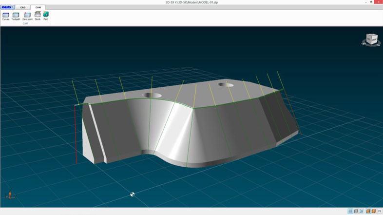 5 axis cutting Bevel cutting from 2D geometry and 3D models in IGEMS.